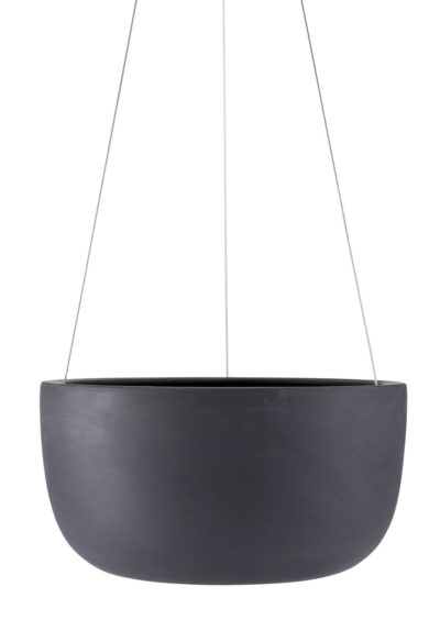 Raw Earth Hanging Planter Large Charcoal