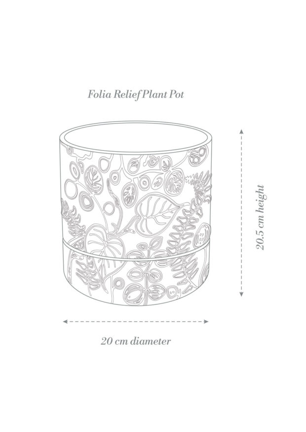 Folia Relief Plant Pot Product Diagram