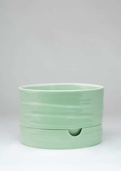 Angus & Celeste Self Watering Plant Pot Mid Sage Green