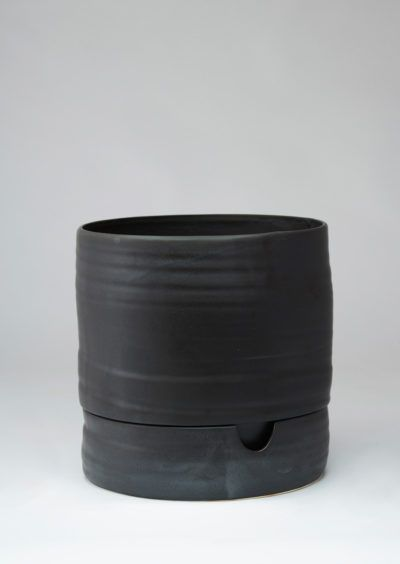 Angus & Celeste Self Watering Plant Pot Tall Matt Black