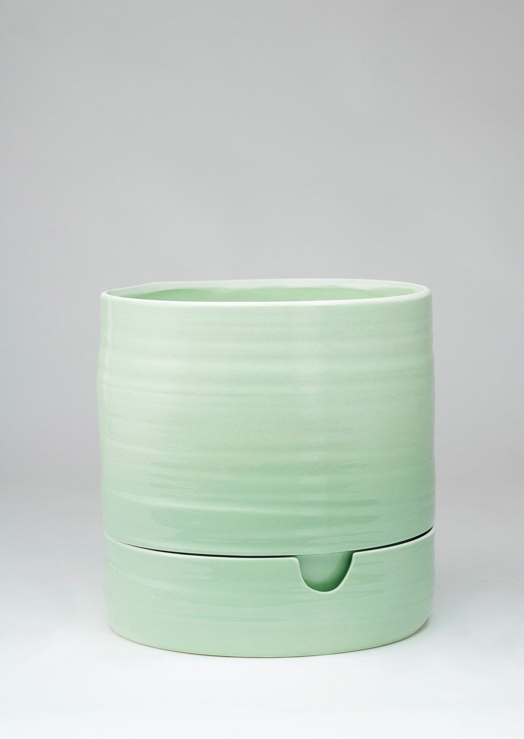 Angus & Celeste Self Watering Plant Pot Tall Sage Green